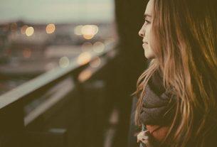 woman staring at nowhere