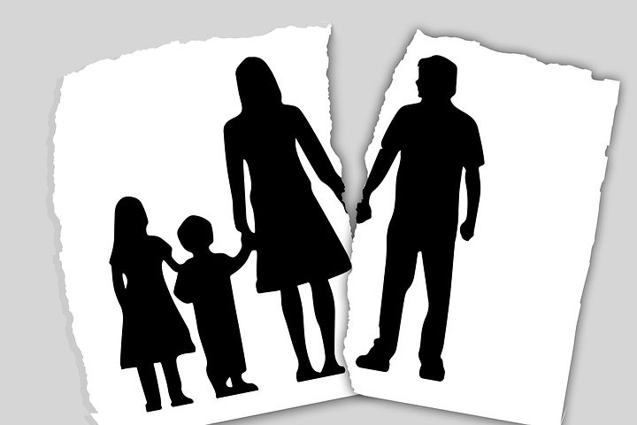 Family facing a marriage breakdown